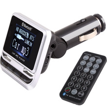 Universal 12 v ~ 24 v car WMA format MP3 player 1.4 inch screen FM transmitter bluetooth hands free kit mobile phone charger
