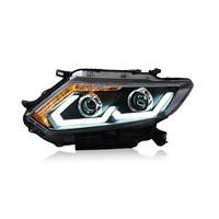 LHD For Nissan X Trail Rogue 2014 2015 Car Headlight Turn Signal DRL Bi Xenon Lens Low Beam LED Head Lights Auto Lamp Styling