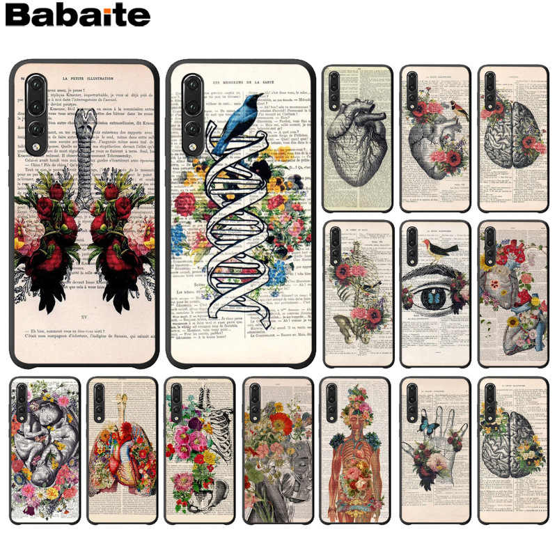 Babaite Human anatomy organ in art newspaper Soft Phone Cover for Huawei P10 plus 20 pro P20 lite mate9 10 lite honor 10 view10