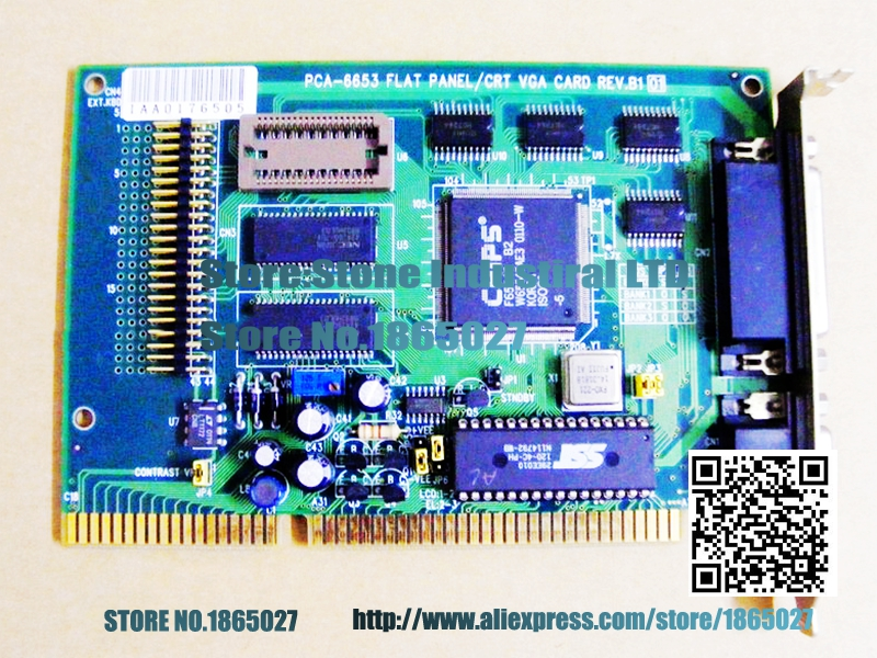 ФОТО PCA-6653 REV.B1 industrial graphics old ISA cards can point crystal LCD 100% test