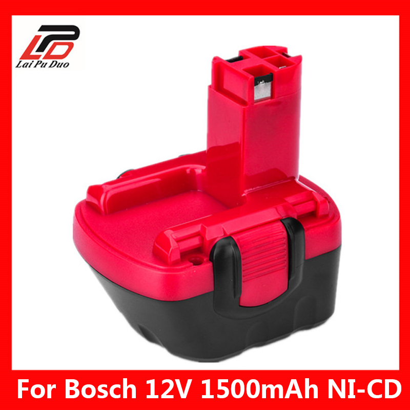 Ni-CD 12 V 1.5Ah Vervanging Voor Bosch Tool Batterij 2607335709/2607335249/2607335261/2607335262/2607335273 /GSR12-1 GSB12VE-2