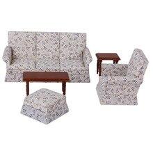 Miniature Furniture Fabulous Dollhouse Sofa End Tea Table Set Furniture Toys