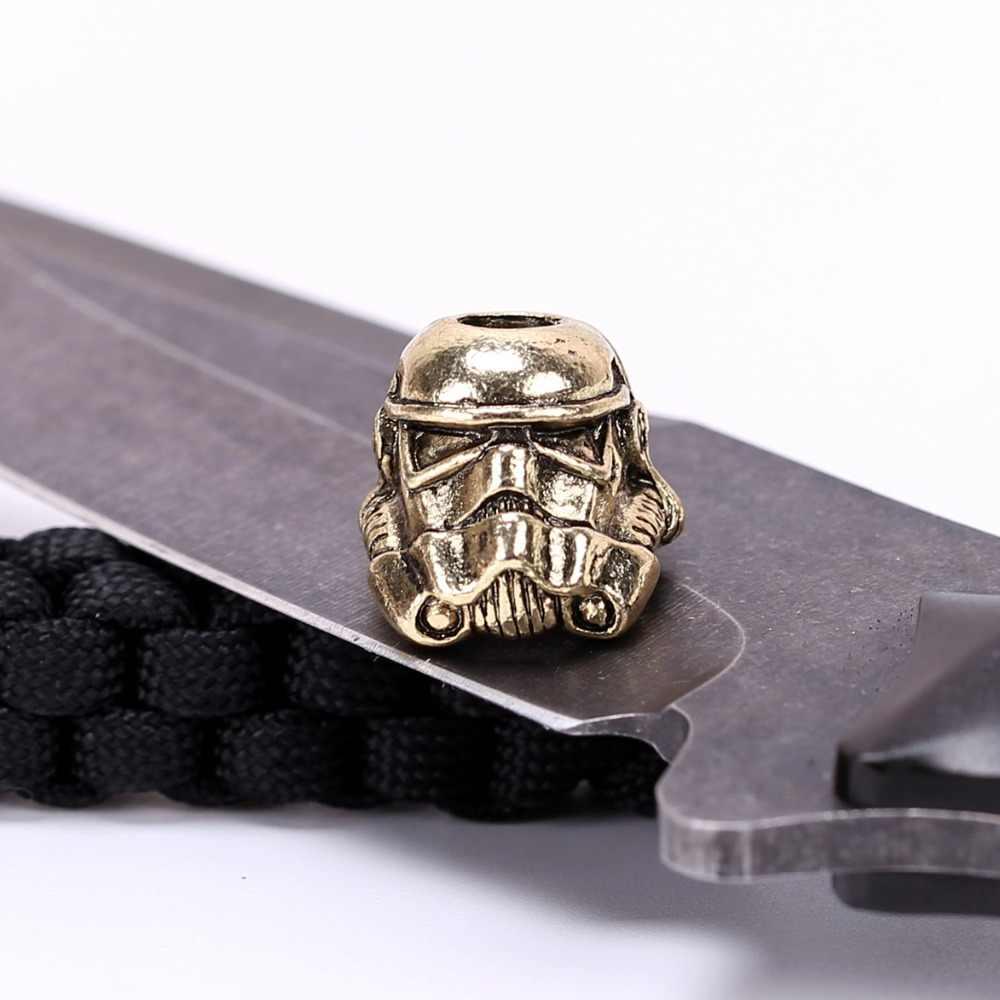1pc Paracord koraliki metalowe Charms dla Paracord akcesoria do bransoletki Survival, DIY wisiorek klamra dla Paracord nóż smycz