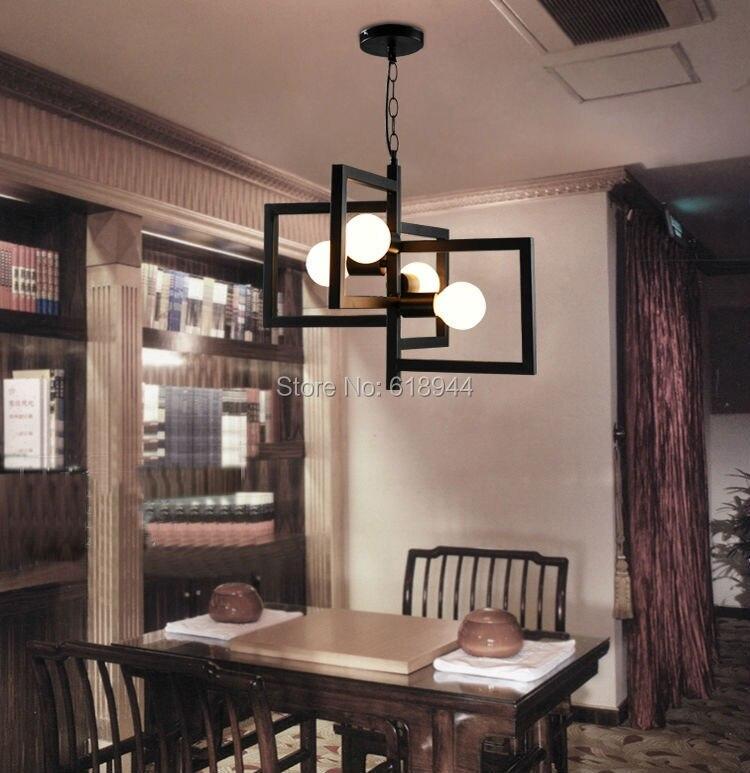 ФОТО Modern Brief Personality  Metal Vintage Industrial Creative Dining Room Pendant Lights, Black/White Hanging Pendants
