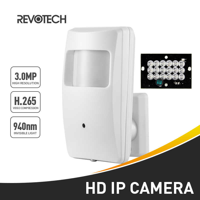940nm Onzichtbare IR H.265 3MP PIR IP Camera 1296 P/1080 P LED Night Indoor Beveiliging Cctv-systeem Video surveillance HD Mini Cam