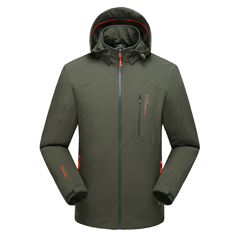 Men Hiking Jackets Big Size 5XL 6XL 7XL 8XL Soft Shell Outdoors Jackets Thin Breathable Detachable Hood Climbing Camping Coat plus size 10xl 8xl 6xl 5xl 2018 new arrival leather jackets men outwear solid casual men s coats autumn