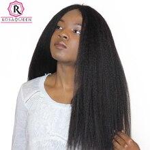 Странный прямые волосы бразильский пучки волос плетение грубой яки 100% Человеческие волосы Связки Rosa Queen Hair продукты Реми расширения