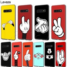 Lavaza Mickey Mouse Hand Gebaar Case voor Samsung Galaxy S6 S7 Rand S8 S9 S10e Plus A3 A5 A6 A7 a8 A9 J6 Note 8 9 2018(China)