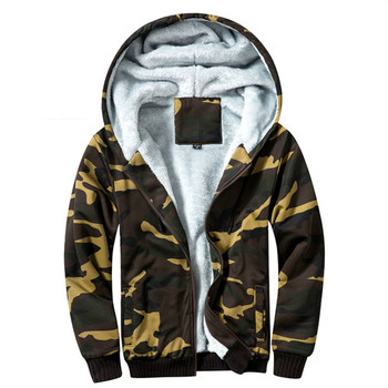 Autumn And Winter Military Camouflage Jacket For Men Fashion hooded Plus Velvet Coat Army Tactical Clothing Male Windbreakers