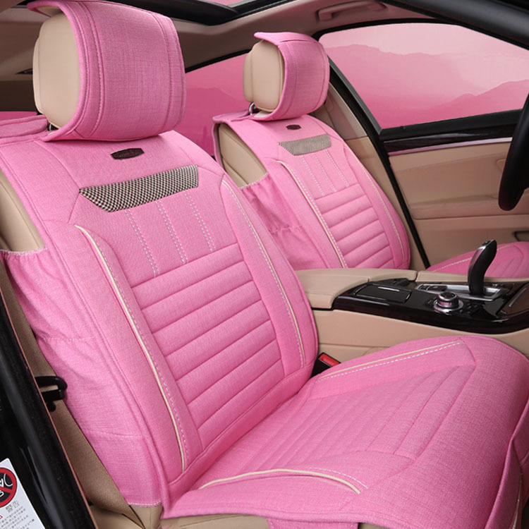 Eco Friendly Comfortable Universal Pink Car Seat Covers Zd80 In