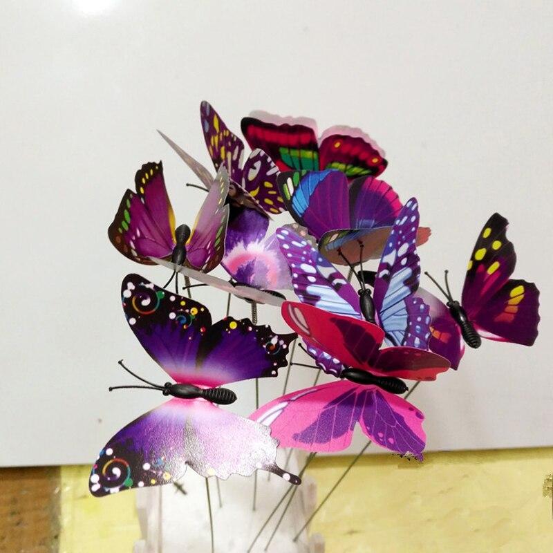 Genial Colourful Garden Plastic Butterflies On Sticks Dancing Flying Fluttering  Butterfly DIY Art Ornament Vase Lawn Garden Decoration On Aliexpress.com |  Alibaba ...