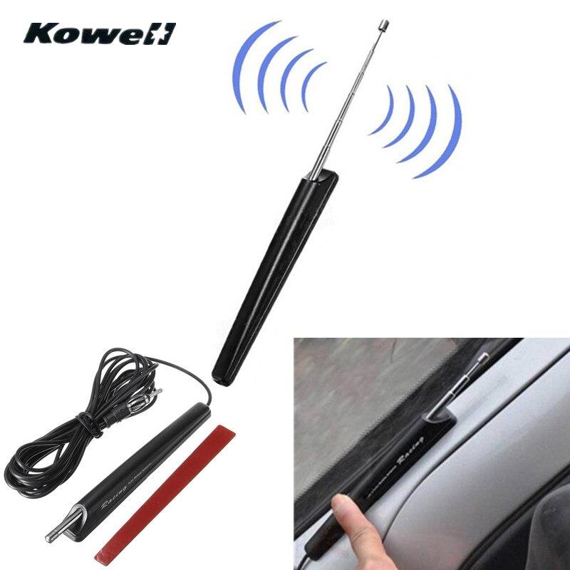 KOWELL 12-24 v Universal Car Auto Toit Rétractable AM/FM Radio Signal Antenne Aérienne Étendre pour Lada pour Volkswagen VW pour KIA