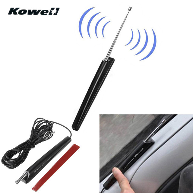 KOWELL 12-24v Universal Car Auto Retractable Roof AM/FM Radio Signal Antenna Aerial Extend for Lada for Volkswagen VW for KIA