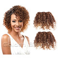 2pcs/set 10inch brown gold color deep Kinky curly wavy synthetic hair weft extensions for sew in weaving hair