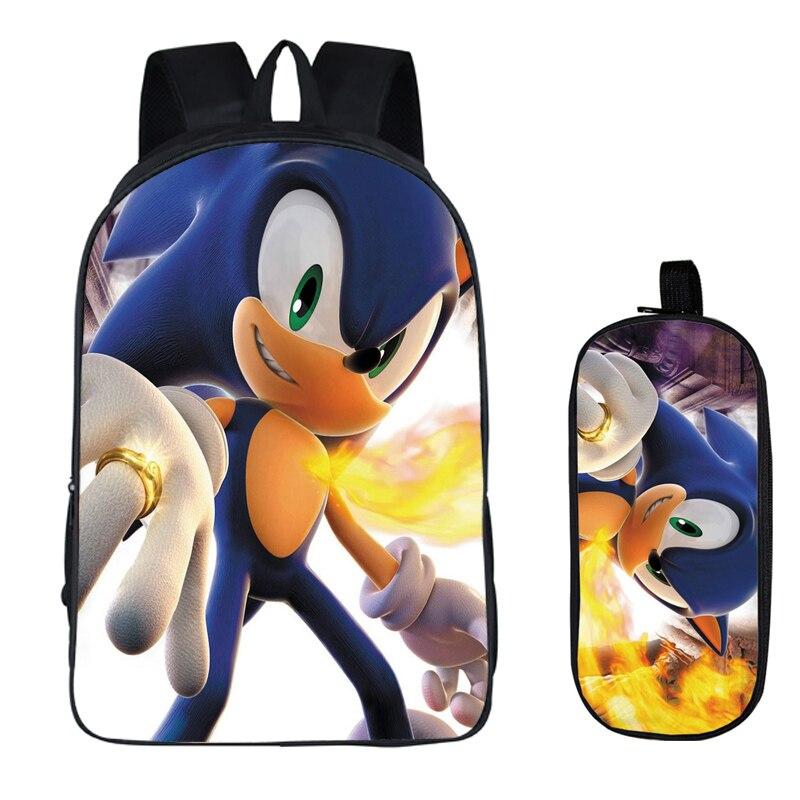 16 Zoll Sonic Super Mario Schule Tasche Für Kinder Jungen Rucksack Kinder Schule Sets Bleistift Tasche Kleinkind Schul Geschenk Ein BrüLlender Handel