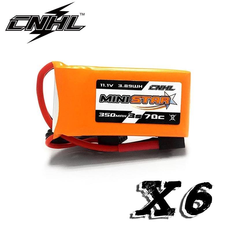 6PCS CNHL MiniStar 350mAh 3S 11.1V 70C Lipo Battery with XT30U Plug(China)