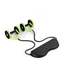 Free shipping Abdominal Waist Slimming Trainer Exerciser Ab Roller Core Double AB Wheel Fitness Home Workout Tool Gym Equipment