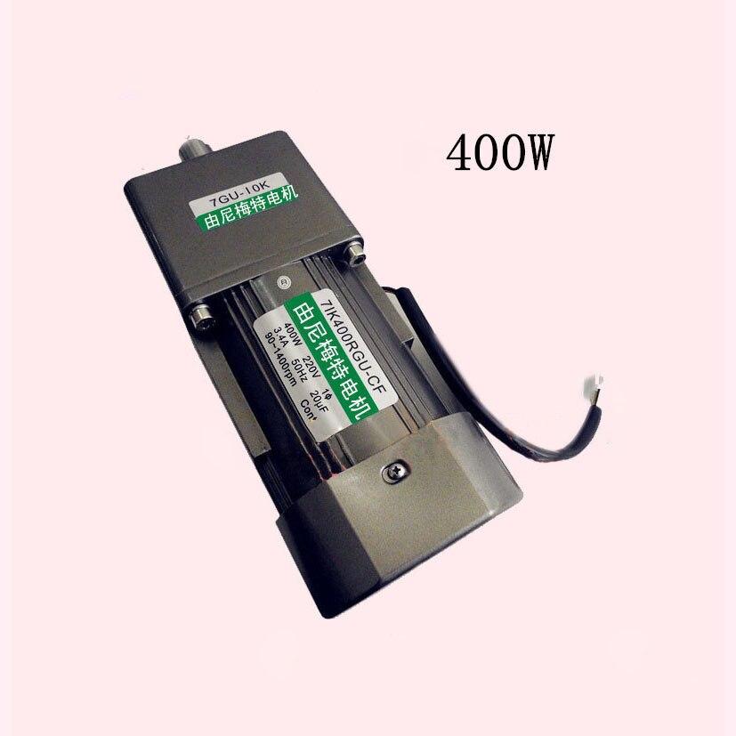 New Single-phase 400W AC motor 7IK400GU-CF work 220VAC instal Gearbox Ratio 1:10 output Constant speed 150RPM Slant shaft 22mm 100w output power 22mm small ac gear motor 3 phase motor with 2 gearbox ratio 60 100