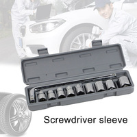 New 10pcs/set Wrench Vehicle Screwdrivers Sleeves Double end Multifunction Car Repairing Tools
