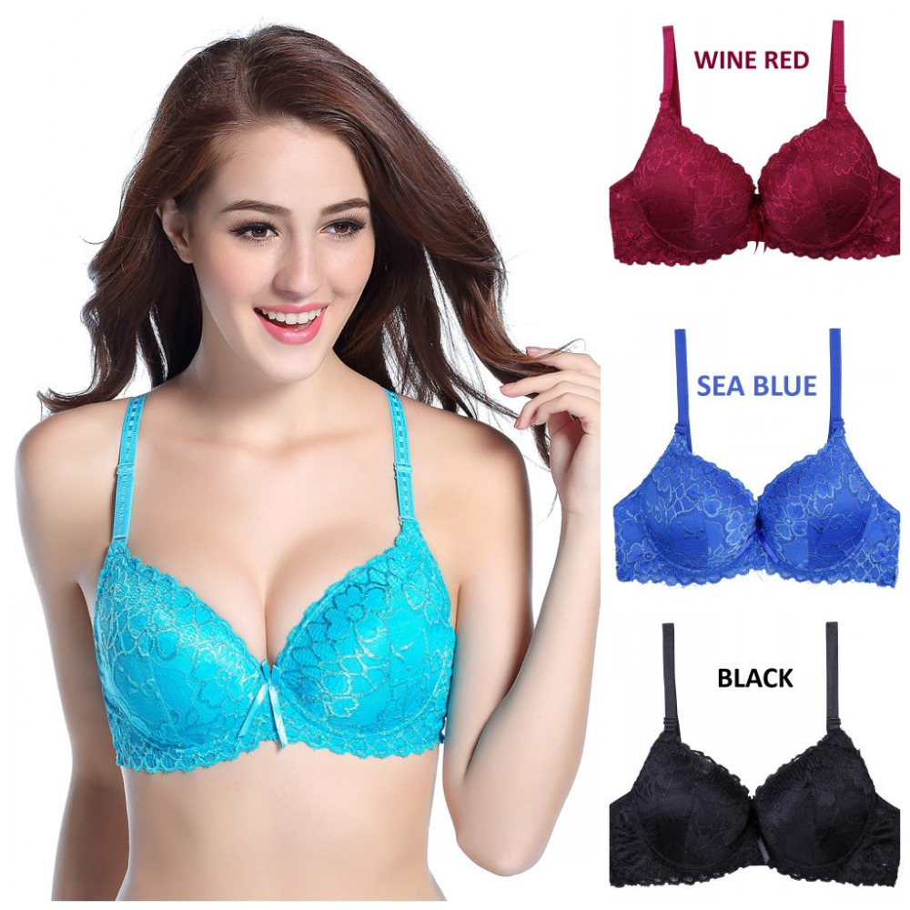 Hot sales 2015 B cups full lace coverage push up bra sexy lace bra intimate brassiere