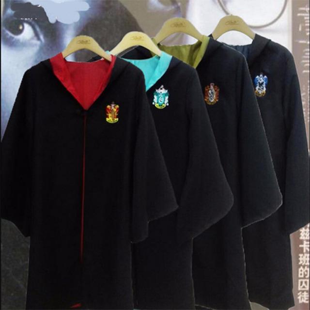 Asistente de mago Bruja Cosplay Robe Capa De Gryffindor Mitiple Tamaños Para Niños Y Menores