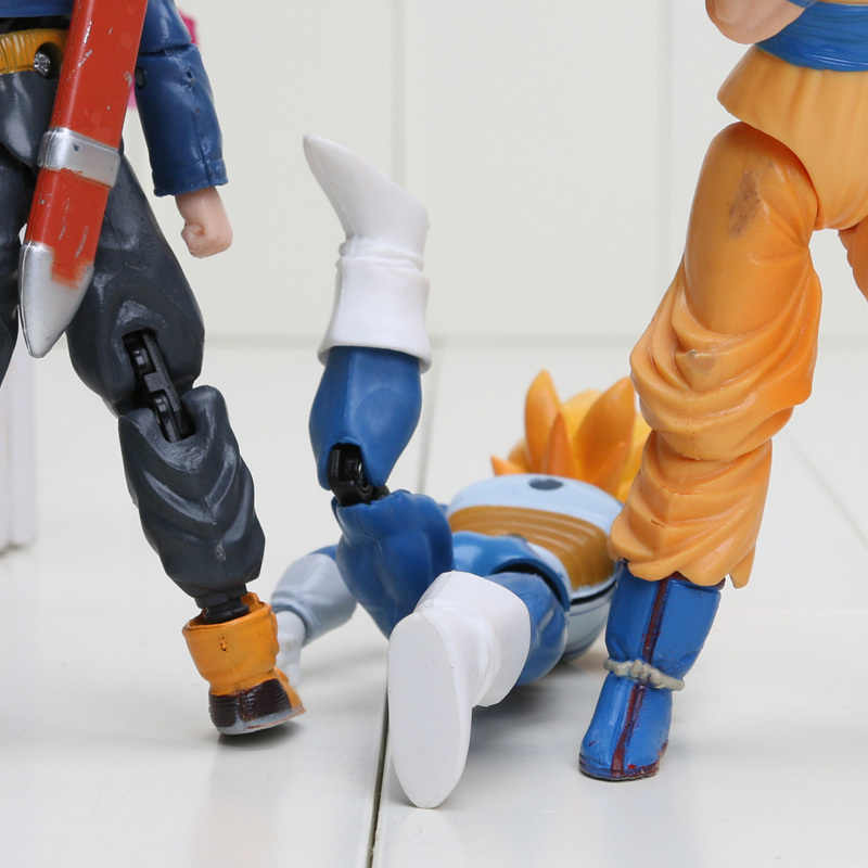 8 pçs/set 6 pçs/set Dragon Ball Z Vegeta Piccolo Móvel Conjunta Son Gohan Goku Trunks PVC Action Figure Toys