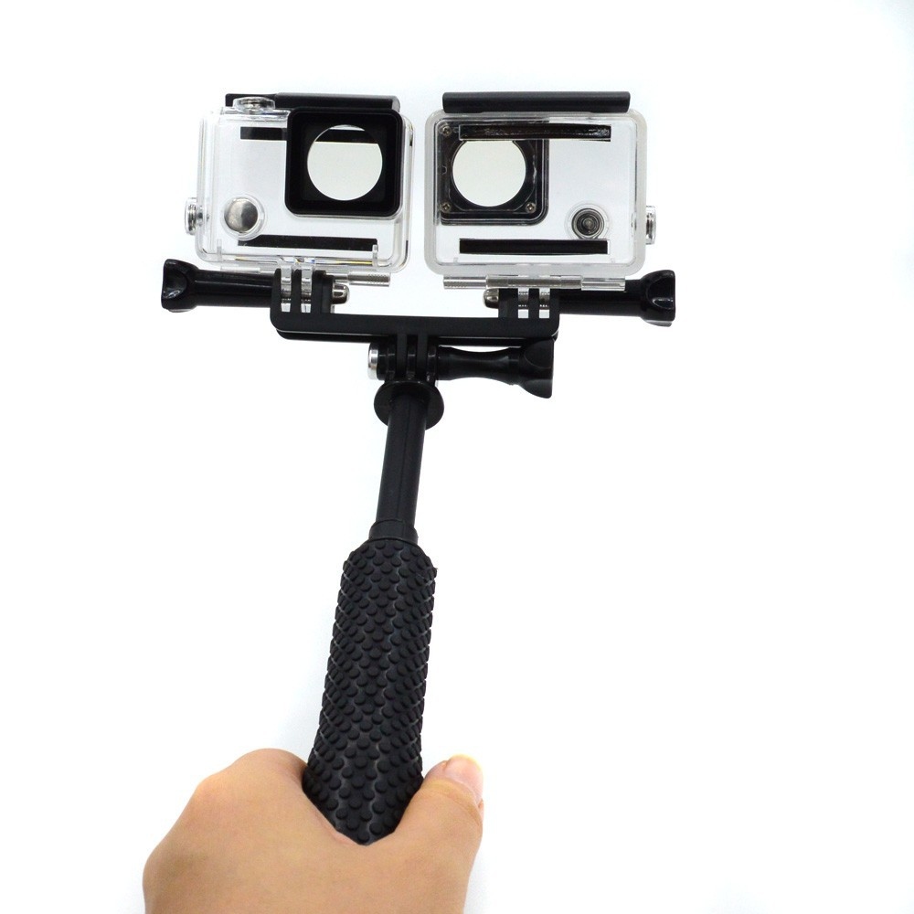 Accessories forGoPro double Two mount / GoPro LED 2 Mount for Go Pro Hero 6 5 4 3 SJ4000 SJCAM SJ5000 Xiao mi Yi Sport Camera justone 3d printing 1 4 wristband mount for camera gopro hero 4 2 3 3 sj4000 black