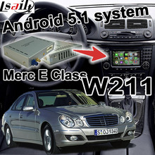 Android GPS navigation box for Mercedes benz E Class W211 video interface box mirror link waze
