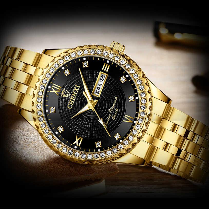 Relojes hombres CHENXI marca reloj de cuarzo reloj para hombre de lujo de estilo nuevo Relogio Masculino militar reloj