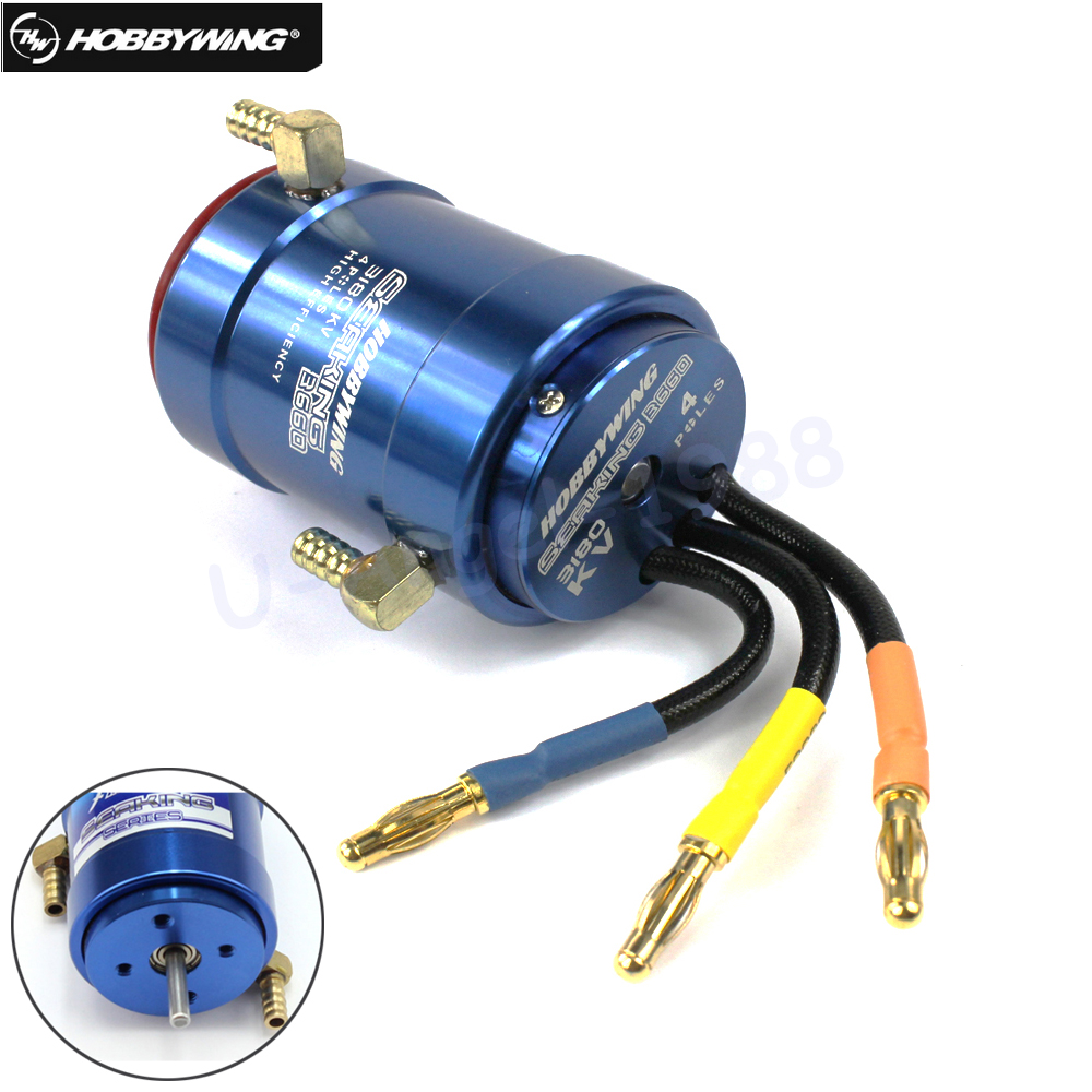 HobbyWing SeaKing 4800kv 2040SL BL Motor w// Water-cooling for RC Racing Boat