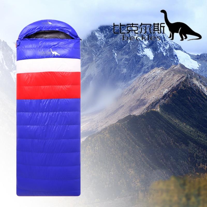 Beckles sleeping bag adult winter ultralight 1000g outdoor duck down sleeping bag camping envelope type bags waterproof nylon-in Sleeping Bags from Sports & Entertainment    3