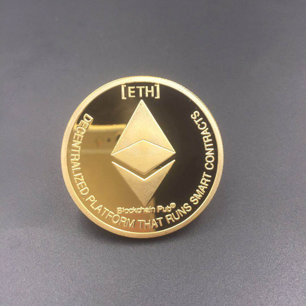 New Types BTC Dash Litecoin Ethereum Coins Currency Collection Physical Gift Collection Art Antique Home Holiday Deco Imitation  4