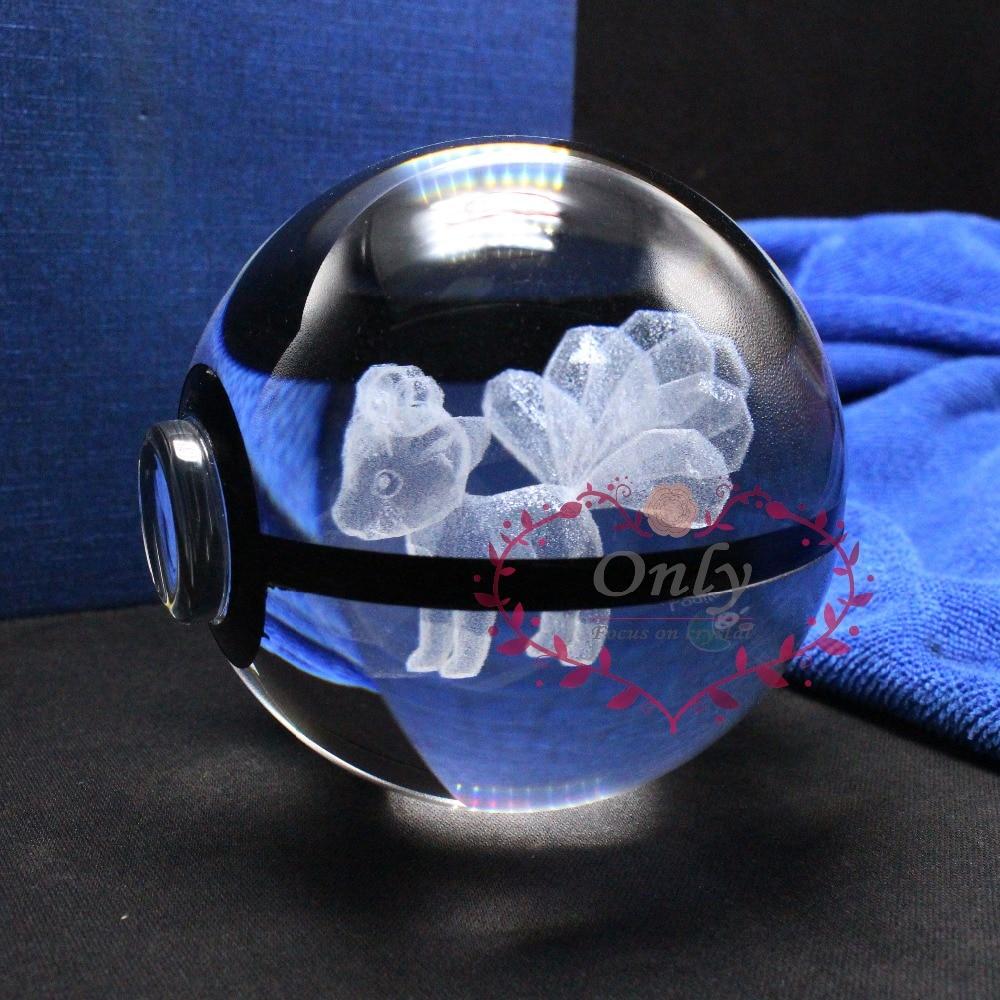 Hot Selling Nový design 3D Laser Pokemon Go Vulpix Ball Dárky na Vánoce