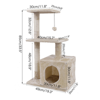 Hot Selling Pet Climbing Toy Cat Kittens Climbing Tree Five Floors Stable And Comfortable Easily Assemble