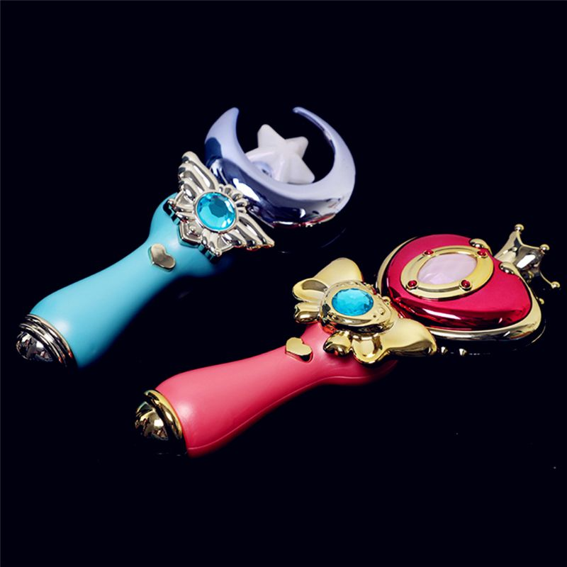 Premium New Exquisite Girls Princess Light Sound Cosplay Halloween Toy Stage Performance LED Wand Magic Wand in Light Up Toys from Toys Hobbies