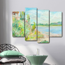 Watercolor Scenery Canvas Painting Calligraphy Posters Prints Home Decoration Wall Art Poster Pictures For Living Room Bedroom
