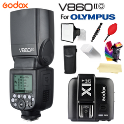 New In Stock! Godox Flash V860IIO V860II-O Camera Flash Speedlite Li-on Battery +X1T O Trigger for Olympus+Gifts Free Shipping