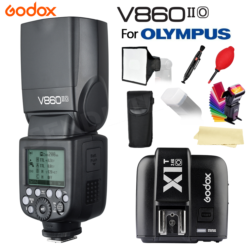 New In Stock! Godox V860IIO V860II-O Camera Flash Speedlite Li-on Battery +X1T O Trigger for Olympus+Gifts Free Shipping