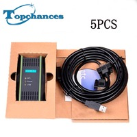 5 STÜCKE Neue PLC Kabel für Siemens S7 200/300/400 6ES7 972 0CB20 0XA0 USB MPI + PC USB PPI DHL/UPS Freies Verschiffen|cable c|plc cablecable for -