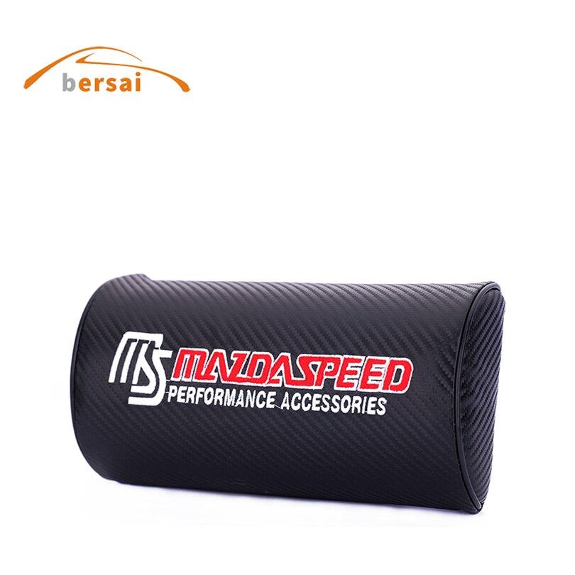 2pcs Carbon Fiber Car Seat Belt Cover Pads Shoulder Cushion For Mazda speed MS