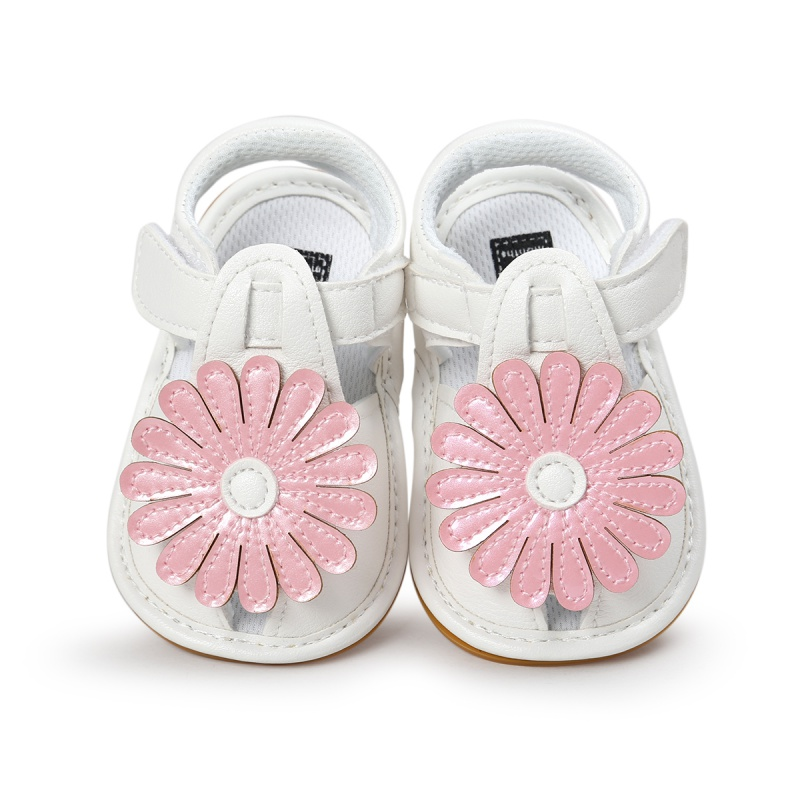 Girls Summer Kids Cute flower Hollow Out Princess Style Flower Breathable Non-slip Soft Bottom Cack Sandal