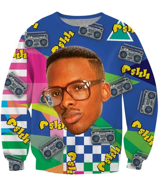 Женщины Мужчины 3D Прохладный Моды DJ Jazzy Jeff Печати Кофты Поты JazzCrewneck Толстовка Экипировка пиджаки костюм пуловер