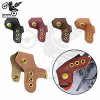 retro leather motorbike boot gear shifter shoe protector case cover shift lever protective moto parts Motorcycle accessories