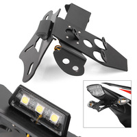 GZYF Moto with LED light License Plate Holder Bracket Fender Eliminator For Honda CBR1000RR 2010 2011 2012 2013 2014 2015 2016