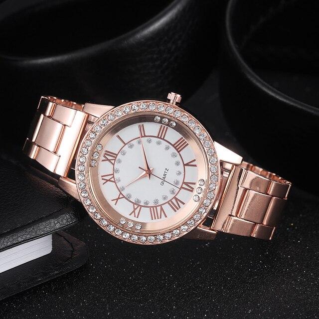 2018 Women Watch Golden Brand Watch Men Women Watches Luxury Steel Lovers Quartz