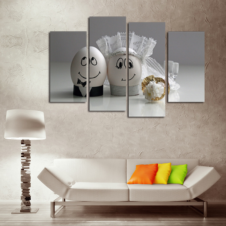 Unique Home Decor Of DIY Married Dolls 4 Piece Canvas Art