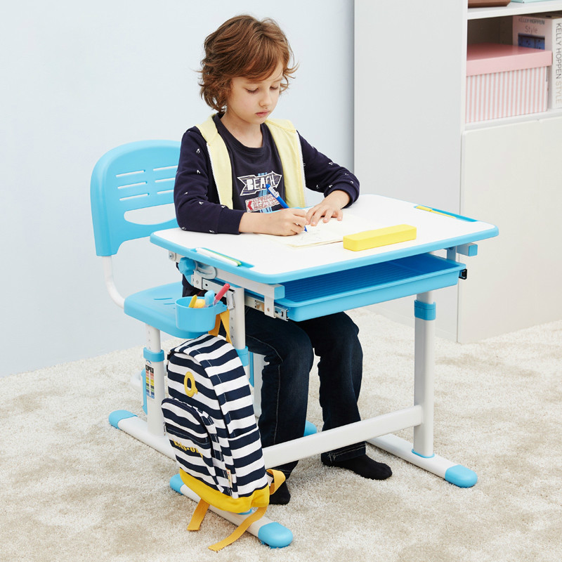 Children Learning Desk And Chair Set Can Adjust The Height Of Correcting Sitting Posture Students Writing Desks And Chairs.