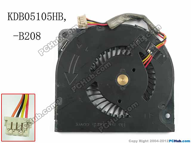 Delta Electronics KDB05105HB B208 Server Cooling Fan DC5V 0.40A 3-wire free shipping for delta efb0612ha f00 dc 12v 0 18a 3 wire 3 pin 120mm 60x60x10mm server square cooling fan