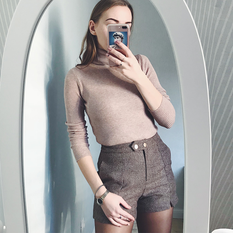 Womens Sweaters 2019 Winter Tops Turtleneck Sweater Women Thin Pullover Jumper Knitted Sweater Pull Femme Hiver
