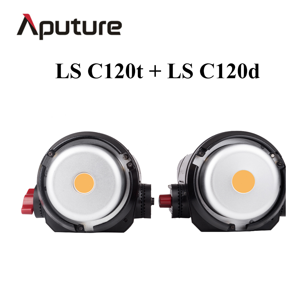Aputure LS C120t + LS C120d COB LED Video Light kit Professional studio light equipment TLCI/CRI 97 with Anton Bauer Plate aputure ls c120d portable professional studio tlci cri 96 6000k led video light continuous lighting daylight with bowens mount